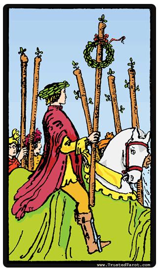 Tarotkaart - De zes toverstokken