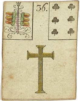Lenormandkaart - Het Kruis