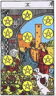 Card 2 - Pentakels tien