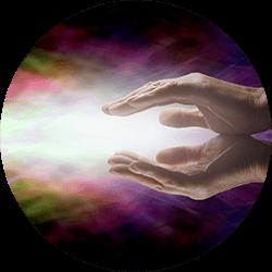 channeling energie thorugh hands
