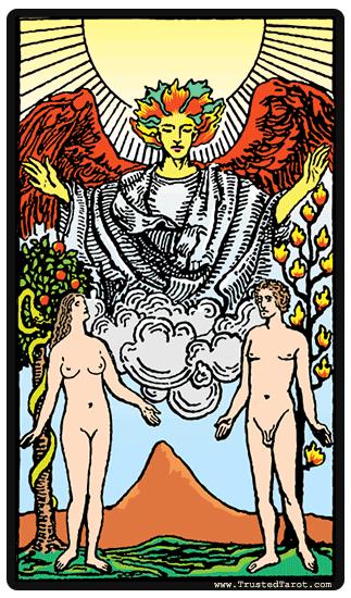 Tarotkaart - De geliefden