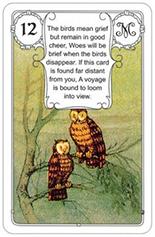 lenormand kaart de vogels